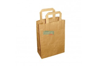 BOLSA PAPEL MARRON CON ASAS 200+100X280MM