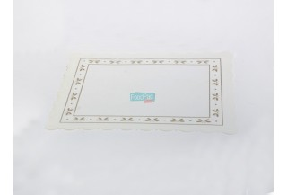 DENTELLE RECTANGLE PARAF. BLANC 26X32CM