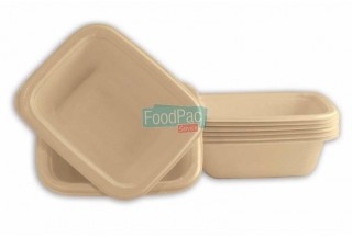BANDEJA CELULOSA COMPOSTABLE GN1/8H36 160X130X36MM