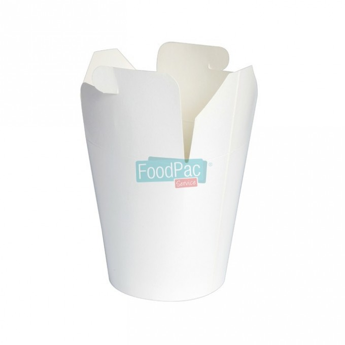 ENVASE BLANCO CON TAPA PARA SNACKS 500ML