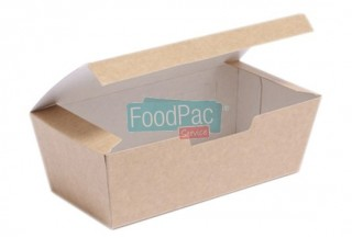 COFFRET TAKE-AWAY EN CARTON KRAFT 185X95X60MM
