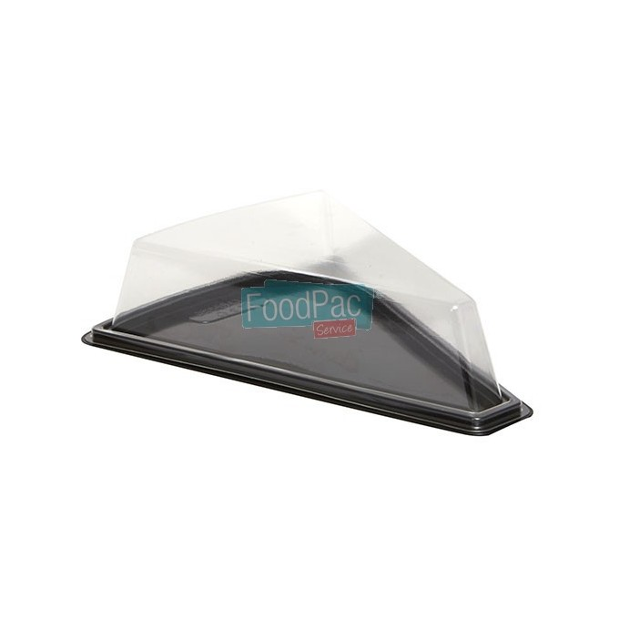 PORCION TARTA TRIANGULAR BASE NEGRA 150MM
