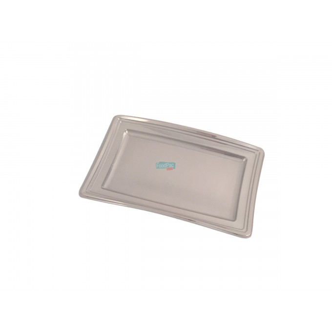 BANDEJA RECTANGULAR PLATA 360X253X10MM