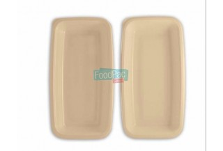 BANDEJA CELULOSA COMPOSTABLE GN1/4H45 265X160X45MM