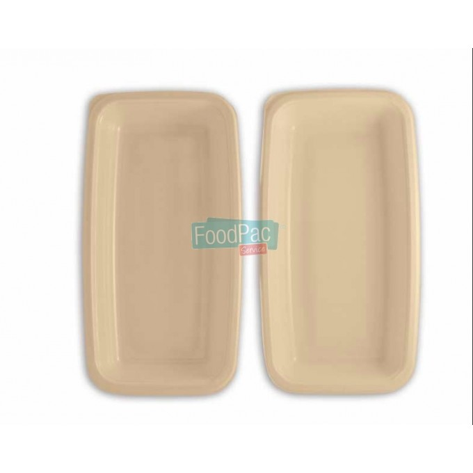 BANDEJA CELULOSA COMPOSTABLE GN1/4H52 260X160X52MM