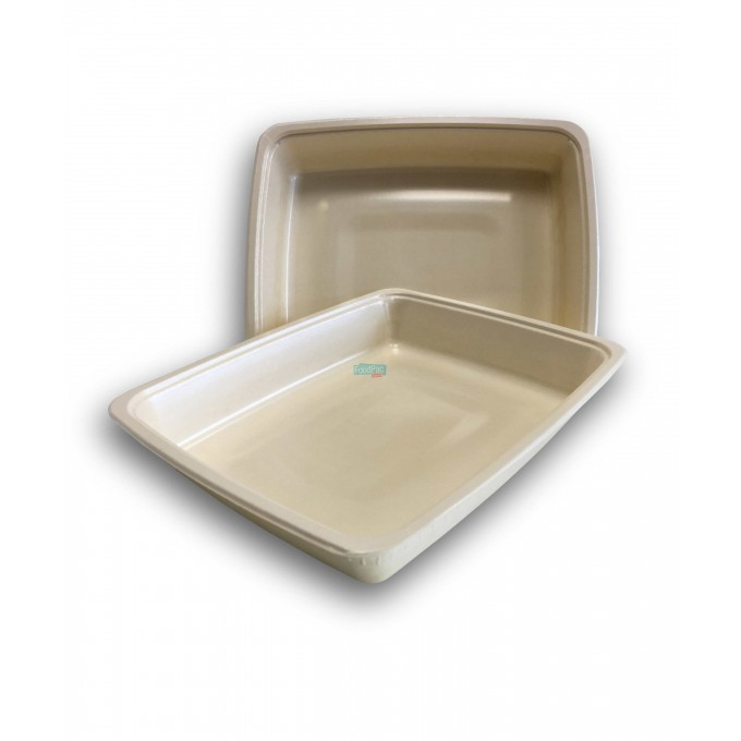 BANDEJA CELULOSA COMPOSTABLE GN1/2H52 325X265X52MM