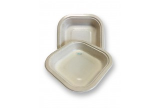 BANDEJA CELULOSA COMPOSTABLE PLATO Q 180X180X36MM