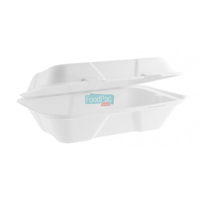 ENVASE PULPA C/BIS COMPOSTABLE 1000CC 230X155X50MM
