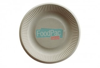 PLATO COMPOSTABLE PULPA CRUDO 150MM DIAM.