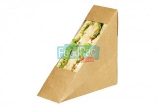 EMBALLAGE SANDWICH CARTON MARRON A FENETRE 50MM