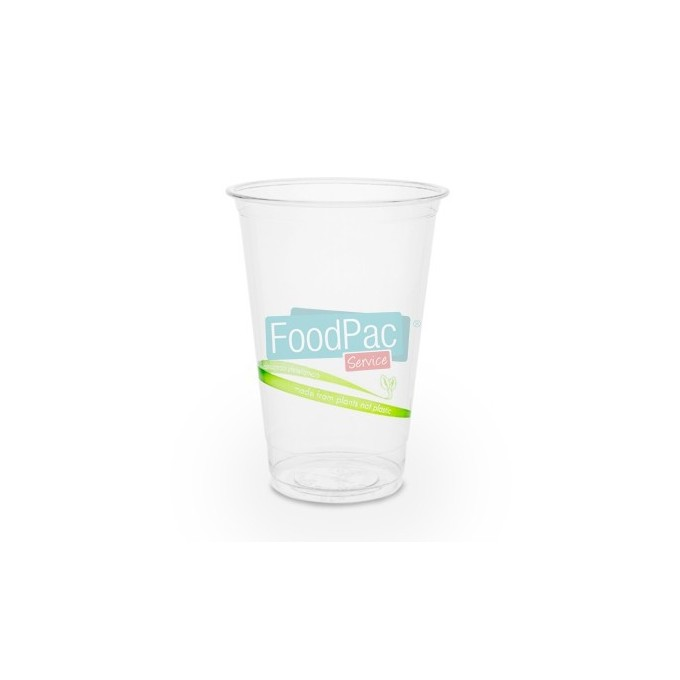 VASO PLA FINO COMPOSTABLE 9 OZ 76X105MM