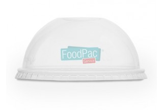 TAPA COMPOSTABLE PLA CUPULA CON AGUJERO 96MM