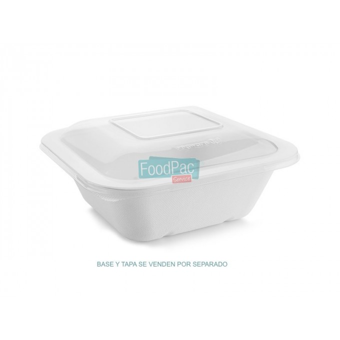 BASE PULPA BLANCA COMPOSTABLE 1000CC 195X180X55MM