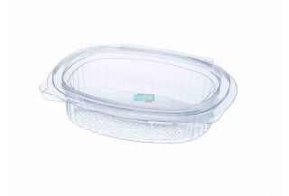 ENVASE OVAL BISAGRA PET 80CC