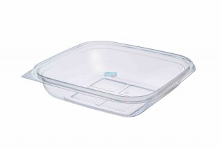 ENVASE TRANSPARENTE(PET) 750CC 190X190X40MM