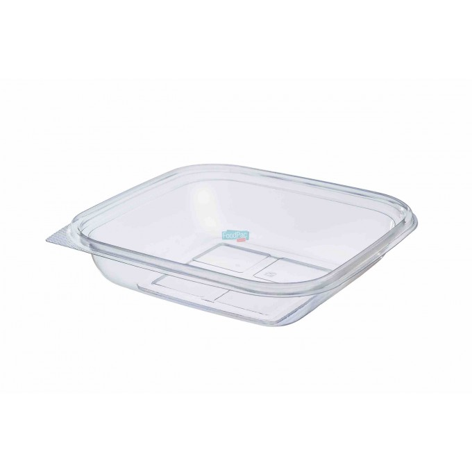 ENVASE TRANSPARENTE PET 750CC 190X190X40MM