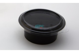 TARRINA PET NEGRA 250ML 115X45MM